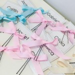 Hair ribbons and Name Tags