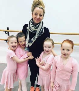 Miss Camille with Beginner Ballet Students